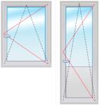 Балкон. группа 2200Х1700 стеклопакет 4-16-4
