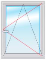 Окно ПВХ 1500х800 стеклопакет 4-10-4-10-4