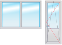 Балкон. группа 2200Х2100 стеклопакет 4-16-4