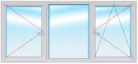 DEXEN серия B70 1500х2200 стеклопакет 40мм SIEGENIA