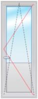 Dexen В70 2150х700 стеклопакет 40мм Siegenia