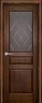 Дверь Валенсия античный орех остекленная